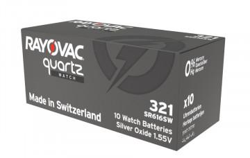 Baterii ceas Rayovac 321 (SR616SW) oxid argint 10 buc