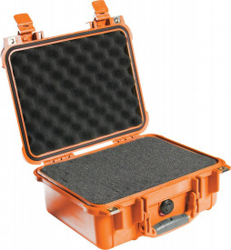 Peli 1400 orange with foam