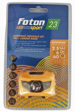 Lanterna frontala FOTON Sport HL6504 LED 3W