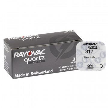 Baterii ceas Rayovac 317 (SR62) cu oxid Argint 10 buc