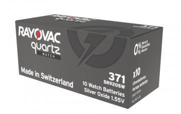 Baterii ceas Rayovac 371 (AG6) cu oxid Argint 10 buc