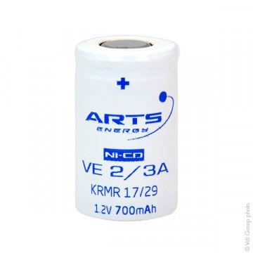 Acumulator Arts VE 2/3A 1.2V 700mAh NiCd