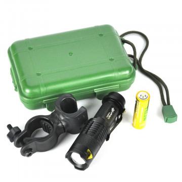 Boruit 5104 Lanterna tactica LED+Suport bicicleta