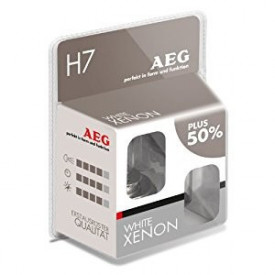 AEG set becuri auto H7 White Xenon Plus 50%