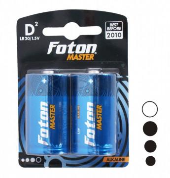 Baterii alcaline Foton Master LR20 sau D