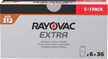 Pachet PROMO 5+1 blistere Baterii auditive Rayovac 312ZA
