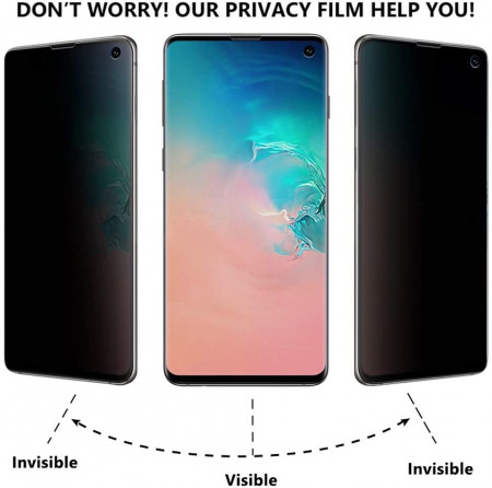 Folie de sticla Samsung Galaxy S10e, Privacy Glass, folie securizata duritate 9H