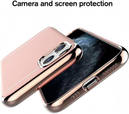 Husa Apple iPhone 11 PRO, Elegance Luxury 3in1 Rose-Gold