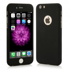 Husa Apple iPhone 5/5S/SE, FullBody Black, acoperire completa 360 grade cu folie de sticla gratis