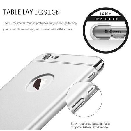 Husa Apple iPhone 6/6S , Elegance Luxury 3in1 Ring Silver