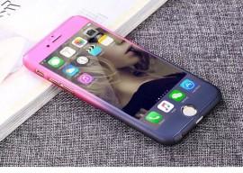 Husa Apple iPhone 6 Plus/6S Plus, FullBody Elegance Luxury Degrade, acoperire completa 360 grade cu folie de sticla gratis