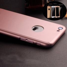 Husa Apple iPhone 6 Plus/6S Plus, FullBody Elegance Luxury iPaky Rose-Gold , acoperire completa 360 grade cu folie de sticla gratis