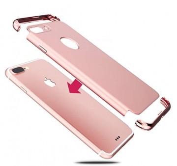 Husa Apple iPhone 7 Plus, Elegance Luxury 3in1 Rose-Gold
