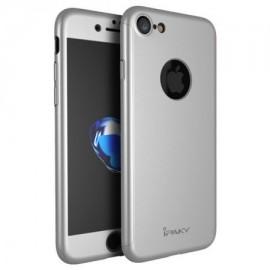Husa Apple iPhone 8, FullBody Elegance Luxury iPaky Silver, acoperire completa 360 grade cu folie de sticla gratis