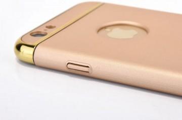 Husa Apple iPhone 8 Plus, Elegance Luxury 3in1 Auriu
