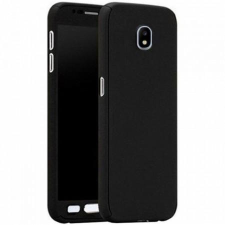 Husa Samsung Galaxy J5 2017, FullBody Elegance Luxury Black, acoperire completa 360 grade cu folie de sticla gratis