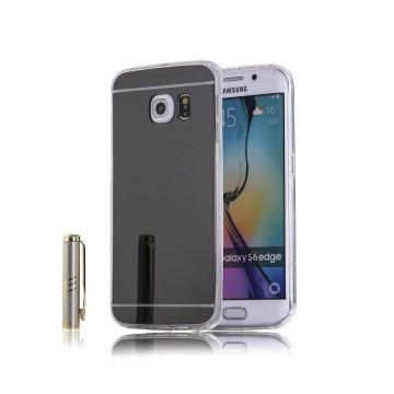 Husa Samsung Galaxy S6 Edge, Elegance Luxury tip oglinda Silver