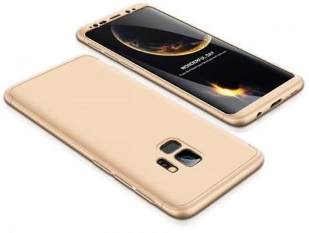 Husa Samsung Galaxy S9, FullBody Elegance Luxury Auriu, acoperire completa 360 grade cu folie de protectie gratis