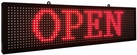 Panou Led de Exterior Programabil/Reclama Luminoasa 135x55 ROSU