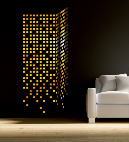 Set Oglinzi Design Patrat - Oglinzi Decorative Acrilice 2/2 Gold 100 buc