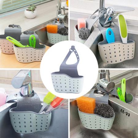 Suport/organizator pentru accesorii chiuveta, baie, bucatarie