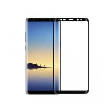 Folie de sticla pentru Samsung Galaxy Note 8, cu margini colorate Negru