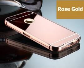 Husa Apple iPhone 5/5S/SE, tip oglinda Rose-Gold