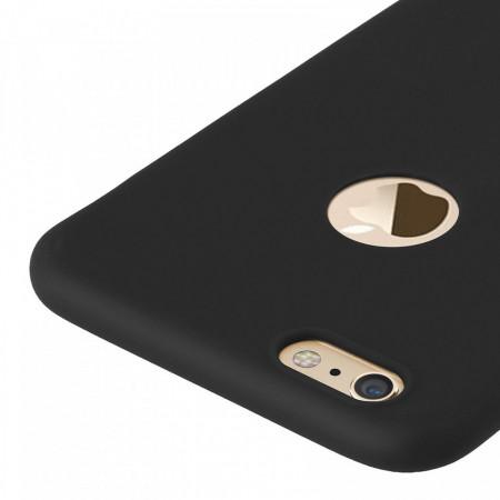 Husa Apple iPhone 6/6S, antisoc cu decupaj logo Black