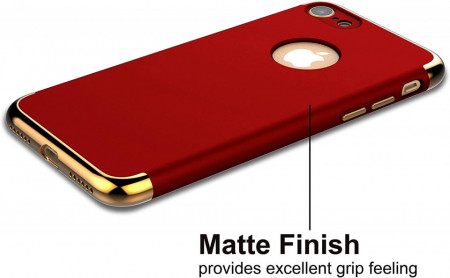Husa Apple iPhone 6 Plus/6S Plus, Elegance Luxury 3in1 Red