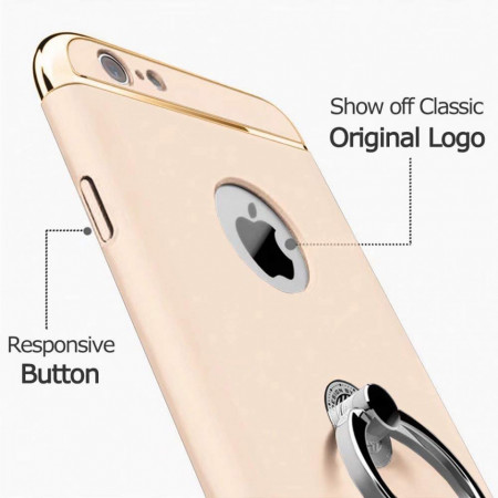 Husa Apple iPhone 6 Plus/6S Plus, Elegance Luxury 3in1 Ring Gold