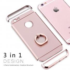 Husa Apple iPhone 6 Plus/6S Plus, Elegance Luxury 3in1 Ring Rose-Gold