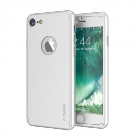 Husa Apple iPhone 6 Plus/6S Plus, FullBody Elegance Luxury Silver, acoperire completa 360 grade cu folie de sticla gratis