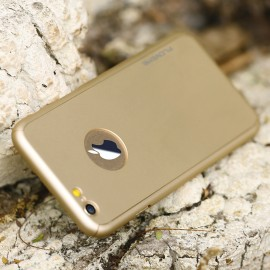 Husa Apple iPhone 7, FullBody Elegance Luxury Gold, acoperire completa 360 grade cu folie de sticla gratis