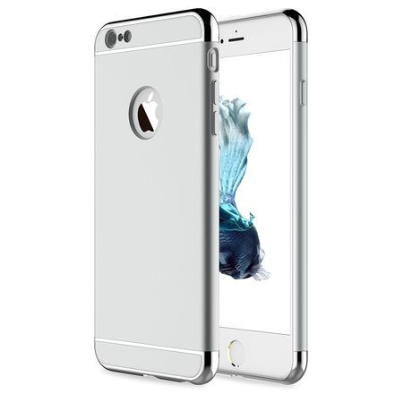 Husa Apple iPhone 8, Elegance Luxury 3in1 Argintiu