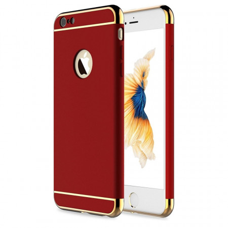 Husa Apple iPhone SE2, Elegance Luxury 3in1 Rosu
