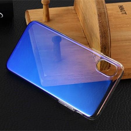 Husa Apple iPhone X, Gradient Color Cameleon Albastru-Galben