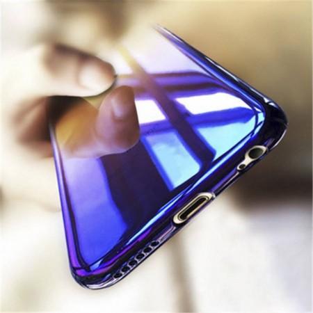 Husa Apple iPhone XS, Gradient Color Cameleon Albastru-Galben