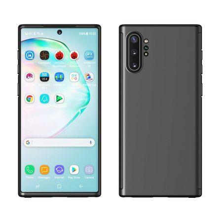 Husa Samsung Galaxy Note 10, FullBody Elegance Luxury Negru, acoperire completa 360 grade cu folie de protectie gratis