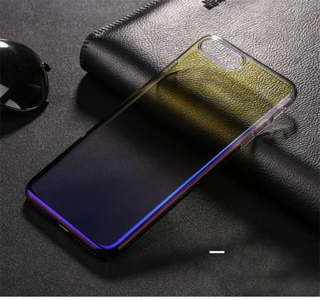 Husa Samsung Galaxy S10, Gradient Color Cameleon Albastru-Galben