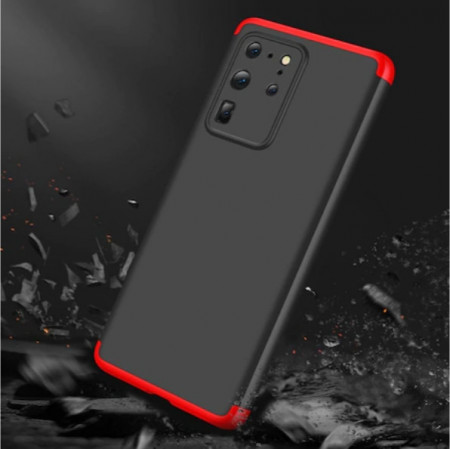 Husa Samsung Galaxy S20 Ultra, FullBody 360° 3in1 Negru-Rosu