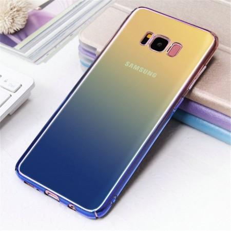 Husa Samsung Galaxy S8 , Gradient Color Cameleon Albastru-Galben