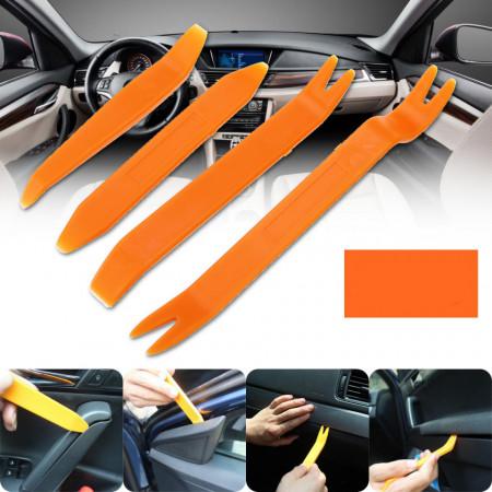 4Pcs-Orange-ABS-Automobile-Audio-Door-Clip-Panel-Trim-Dash-Auto-Kit profesional pentru demontare panouri auto, plafoniere, trimuri, plastice auto Radio-