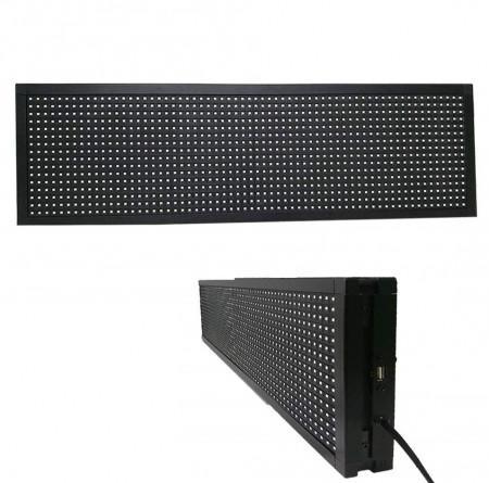 Panou Led de Exterior Programabil/Reclama Luminoasa 130x20 ALB