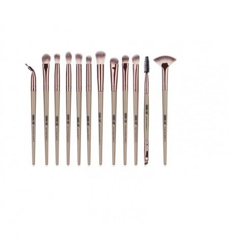 Set 12 pensule Machiaj Cosmetic Make-up Profesional, Nude