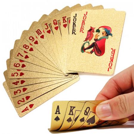 Carti de joc Aurii Casino Poker, aspect Dolar $