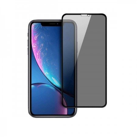 Folie de sticla 5D Apple iPhone XR, Privacy Glass Elegance Luxury, folie securizata duritate 10H