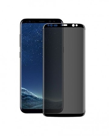 Folie de sticla 5D Samsung Galaxy S8, Privacy Glass , folie securizata duritate 9H