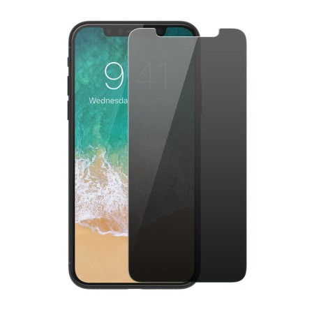 Folie de sticla Apple iPhone 11 PRO, Privacy Glass case friendly, folie securizata duritate 9H