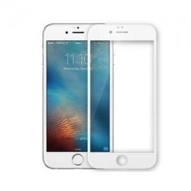 Folie de sticla Apple iPhone 6/6S, Elegance Luxury margini colorate White
