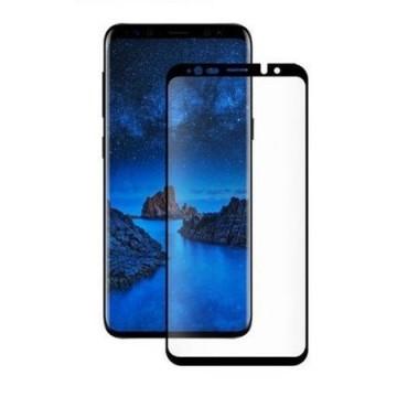 Folie de sticla pentru Samsung Galaxy S9, cu margini colorate Negru